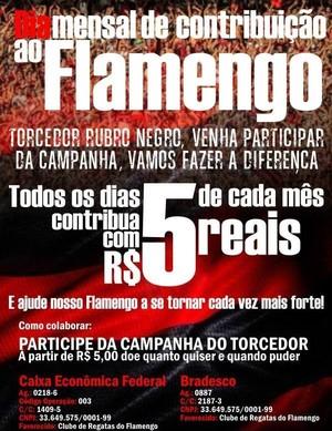 Flamengo da Nação, R$ 5, cinco reais (Foto: Divulgação)