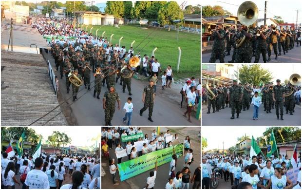 Caminhada Ecológica fez parte do encerramento do Show das Águas e Meio Ambiente (Foto: Katiúscia Monteiro/ Rede Amazônica)