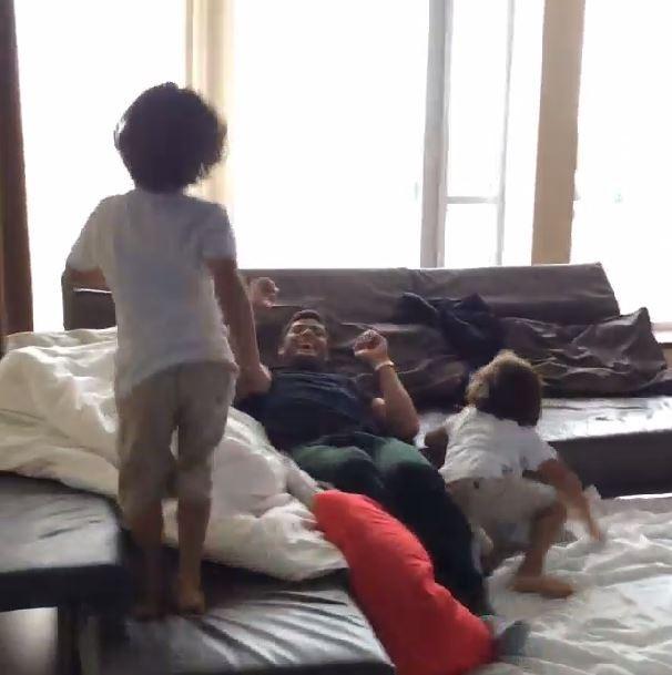 Hulk e os filhos (Foto: Instagram/Reprodução)