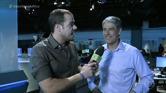 William Bonner mostra bastidores do novo JN e lembra início com Cid Moreira