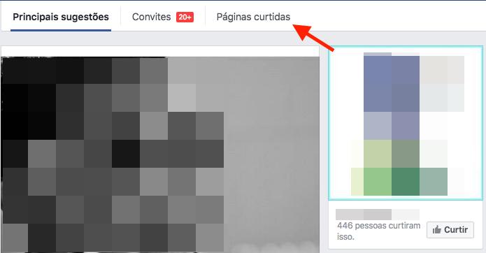 Acessando a lista de páginas curtidas no Facebook (Foto: Reprodução/Marvin Costa)