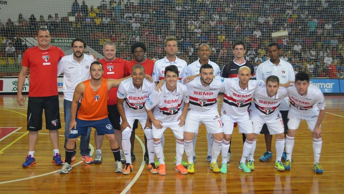 São Paulo/Bauru, time de futsal (Foto: Estevão Rinaldi /FIB/SPFC)