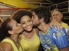 Juliana Alves comanda a festa na quadra da Unidos da Tijuca