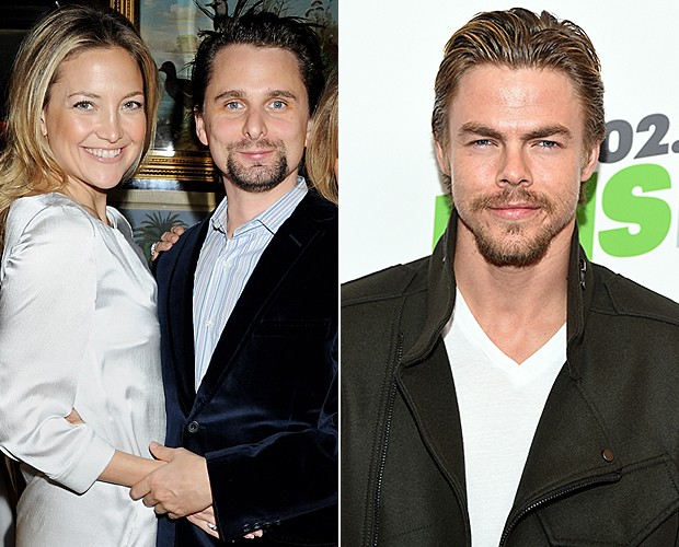 Kate Hudson, Matt Bellamy e Derek Hough (Foto: Getty Images/Agência)