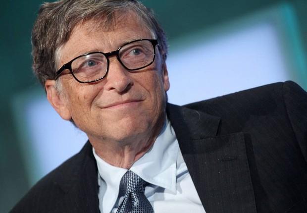 O fundador da Microsoft, Bill Gates, participa da Iniciativa Global Clinton em setembro de 2013 (Foto: Mehdi Taamallah/AFP/Getty Images)