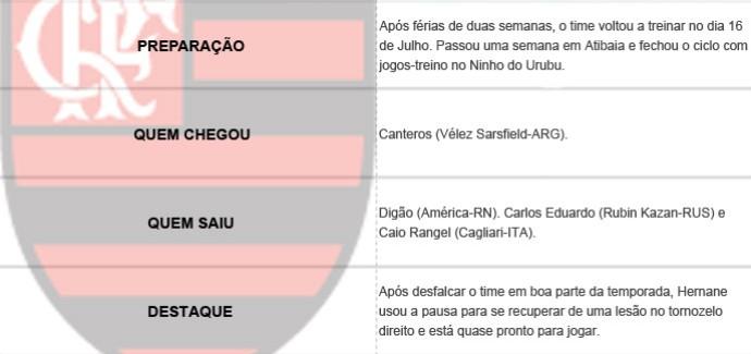 Pacotão dos Clubes - Flamengo (Foto: Editoria de Arte)