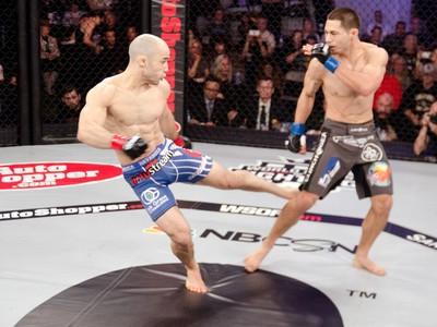 Marlon Moraes chute WSOF MMA (Foto: Divulgação)