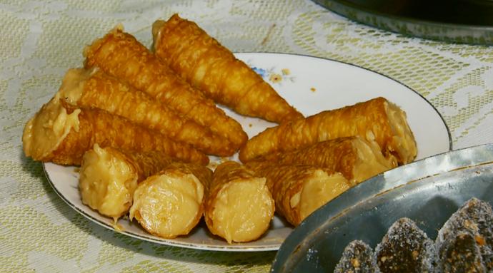 O doce de leite caseiro pode ser servido com casquinhas crocantes - bem brasileiro  (Foto: Reprodução EPTV )