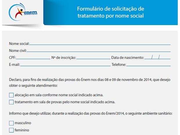No Enem 2014, 95 transexuais estão autorizados a usar o nome social durante as provas em novembro (Foto: Reprodução)