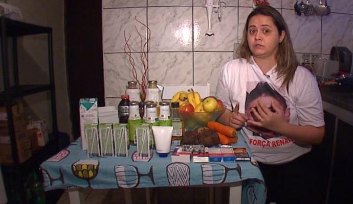 Mãe do Renato Júnior, diagnosticado com linfoma (Foto: Felipe Lazzarotto/EPTV)
