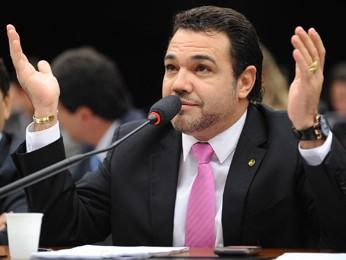 O deputado Marco Feliciano (PSC-SP), em audiência na Câmara (Foto: Gabriela Korossy/Câmara )