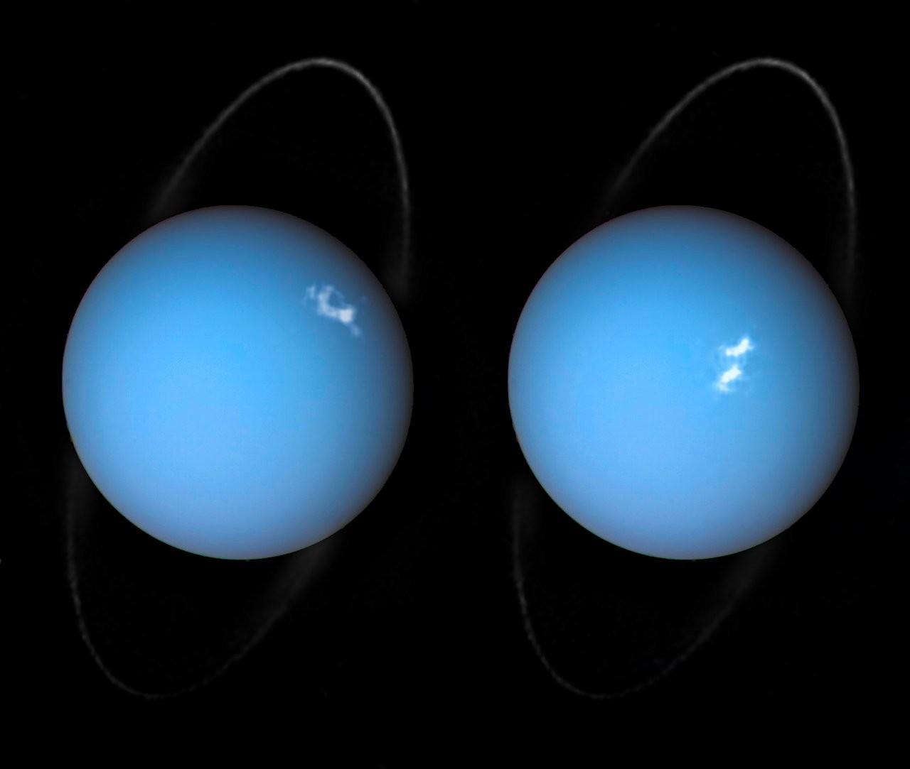 Hubble captura imagens incríveis das auroras de Urano