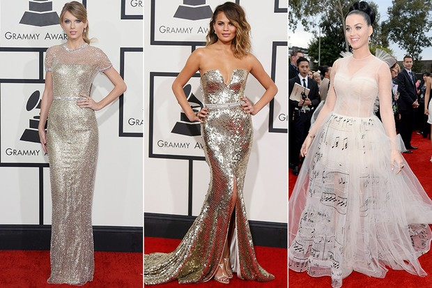 Taylor Swift, Chrissy Teigen e Katy Perry no Grammy (Foto: AFP | Reuters | Getty Images)