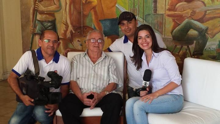 Nathália Dielú fez parte da equipe de reportagem da TV Grande Rio (Foto: Arquivo Pessoal)