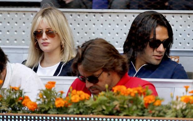 Falcao Garcia esposa torneio tênis Madri (Foto: EFE)
