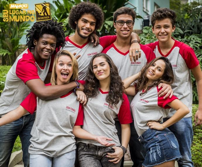 Turma do colégio Dom Fernão da nova 'Malhação' (Foto: João Cotta/TV Globo)