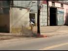 Incêndio em poste deixa parte do Retiro sem luz em Volta Redonda, RJ