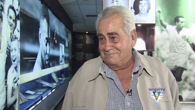 Zito em entrevista para Vanessa Faro no Museu Rei Pelé (Foto: Reprodução/TV Tribuna)