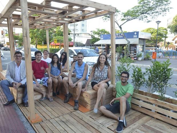 Vitória ganha primeiro 'parklet', em Jardim Camburi (Foto: Edson Chagas/A Gazeta)
