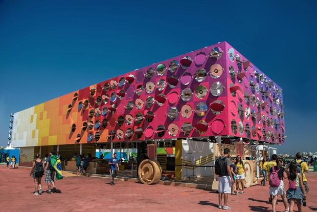 Pavilhão Interativo, no Parque Olímpico, foi uma das obras premiadas no iFDesign Awards 2018 (Foto: Divulgação)