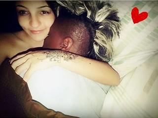 Pepê e a mulher, Thalyta Santos (Foto: Reprodução / Facebook)