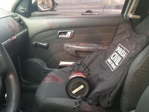 Segundo delegado, polícia foi recebida a tiros durante ação para prender suspeito (Foto: Raquel Freitas/G1)