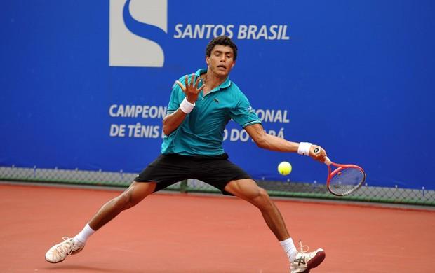 Tenista cearense Thiago Monteiro no ATP Challenger Tour, em Belém (PA) (Foto: João Pires/Assessoria do evento)