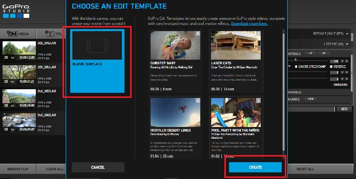 Como criar um v deo com studio editor de v deo da gopro for Gopro studio templates download