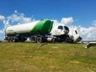 Caminhão perde o eixo e bate em rodovia de Capivari