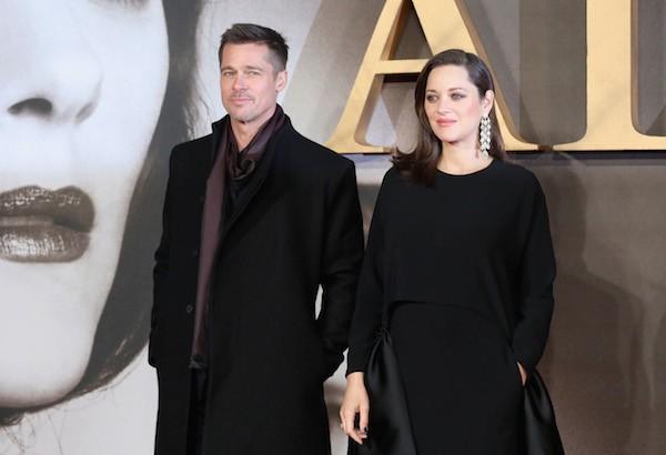 A atriz Marion Cotillard e o ator Brad Pitt (Foto: Getty Images)