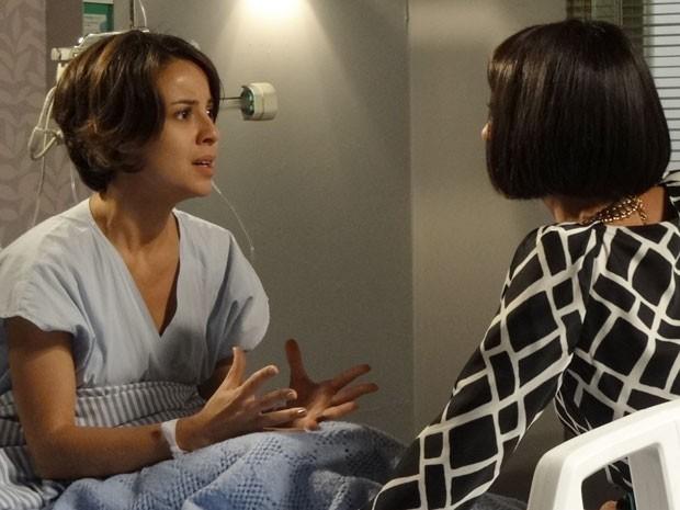 Valéria teme que filho que espera pode não ser de Rodrigo (Foto: Amor Eterno Amor/TV Globo)