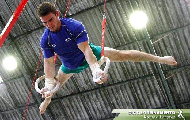 selo ginástica Arthur Zanetti Dia de Treinamento (Foto: Gustavo Tilio / Globoesporte.com)