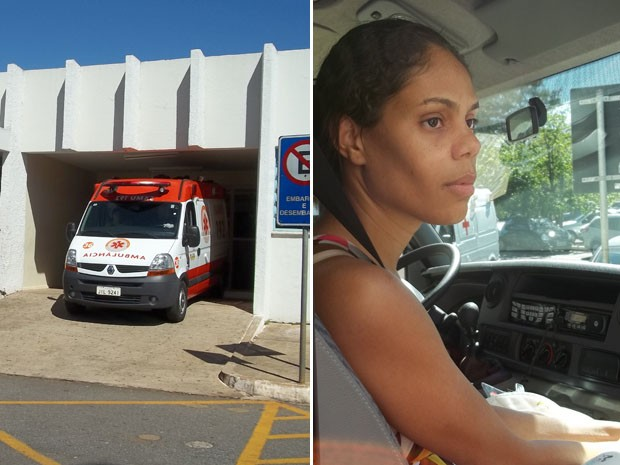 Ambulância do Samu levou menino de 1 mês e 18 dias do Hospital Regional da Asa Sul (Hras) para o Insituto de Cardiologia do DF, na manhã desta sexta-feira (1º), em Brasília. Mãe do bebê seguiu na ambulância (Foto: Rafaela Céo/G1)
