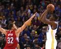 """Golden State mostra força, e Durant vira fã em quadra: """"São formidáveis"""""""