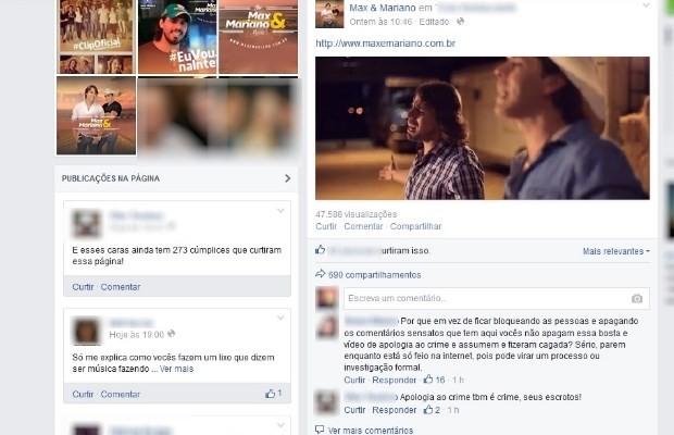comentários negativos, Goiás (Foto: Reprodução/ Facebook)