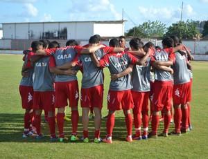 América-RN - jogo-treino - jogadores (Foto: Jocaff Souza/GloboEsporte.com)