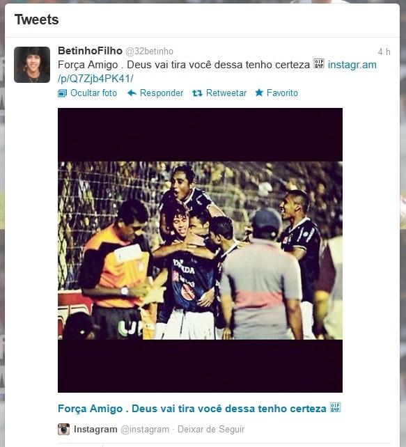 Betinho atuou no Remo até o mês de agosto (Foto: Reprodução / Twitter)