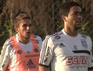 Bady e Felipe meias Ponte Preta (Foto: Carlos Velardi / EPTV)