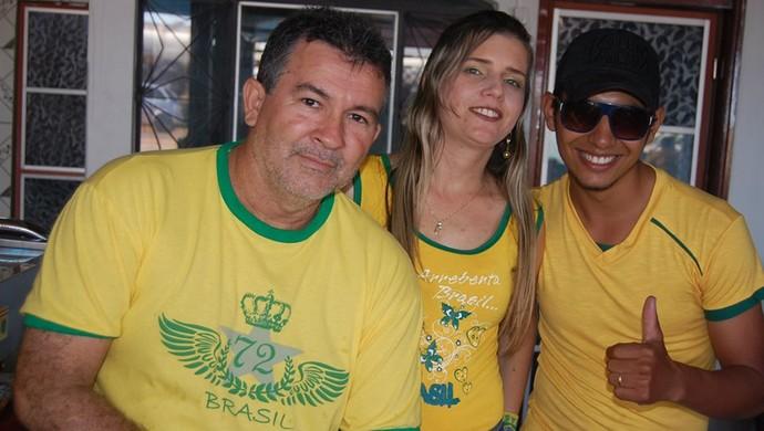 Amigos durante a Copa do Mundo (Foto: Arquivo Pessoal)