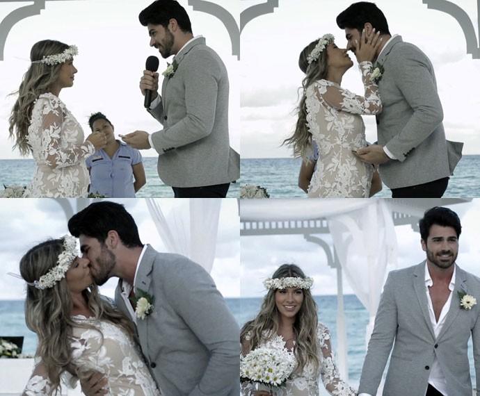 Adriana e Rodrigão se casam em Punta Cana (Foto: Reprodução)