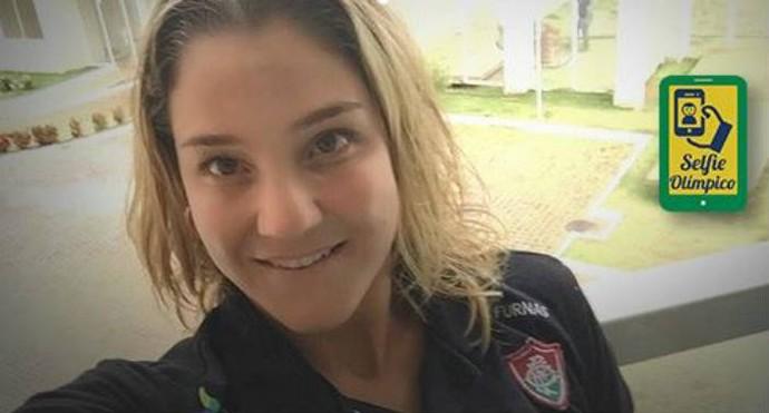 Juliana Veloso no Selfie Olímpico (Foto: Reprodução)