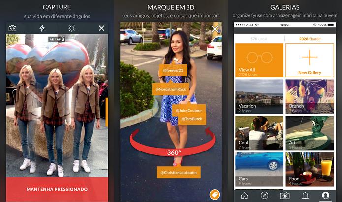 Fyuse permite tirar selfies em diferentes ângulos (Foto: Divulgação/AppStore)