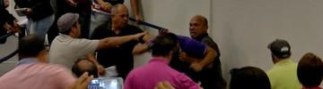 Radialista e servidores brigam na Câmara  (Reprodução/TV Morena)