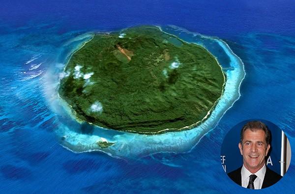 Mel Gibson – Mago Island, Fiji (Foto: Privateislandsmag.com / Getty Images)