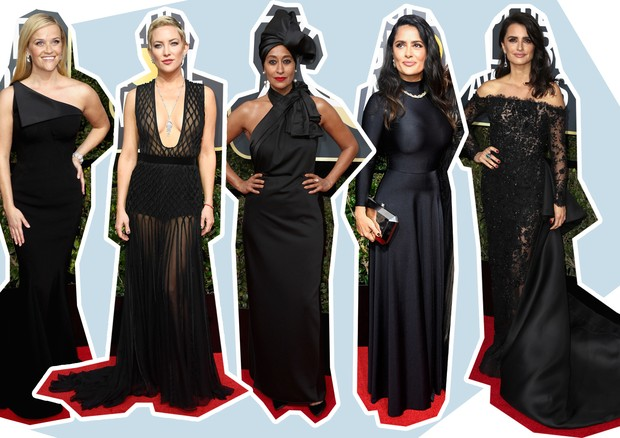 Reese Witherspoon, Kate Hudson, Tracee Ellis Ross, Salma Hayek Pinault e Penélope Cruz (Foto: Getty Images)