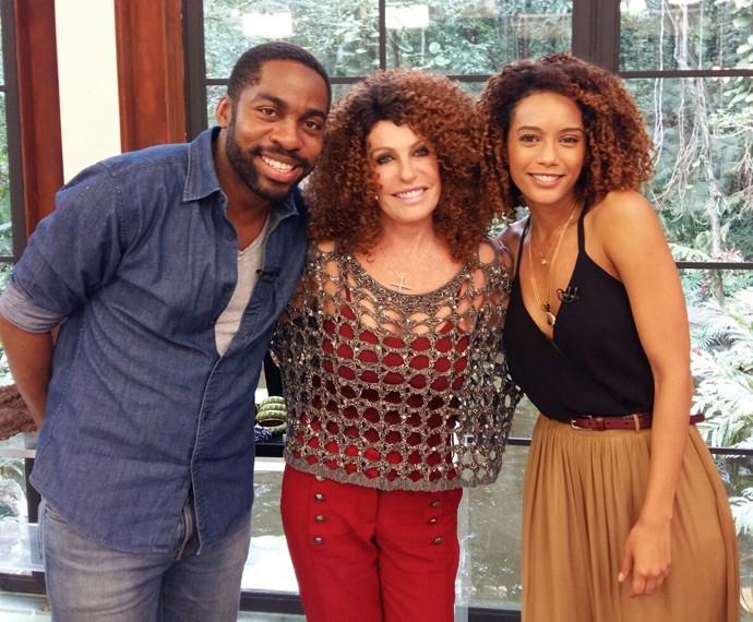 Ana Maria, Lázaro Ramos e Taís Araújo (Foto: Ivo Madoglio / TV Globo)