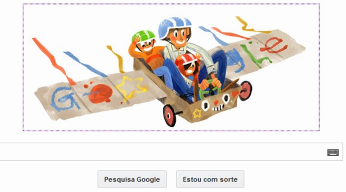 Google homenageia os pais com simpátido Doodle (Foto: Reprodução)