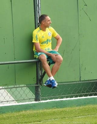 Fernando Prass Palmeiras treino (Foto: Tossiro Neto)