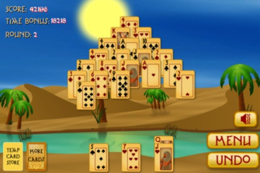 pyramid solitaire egypt free online