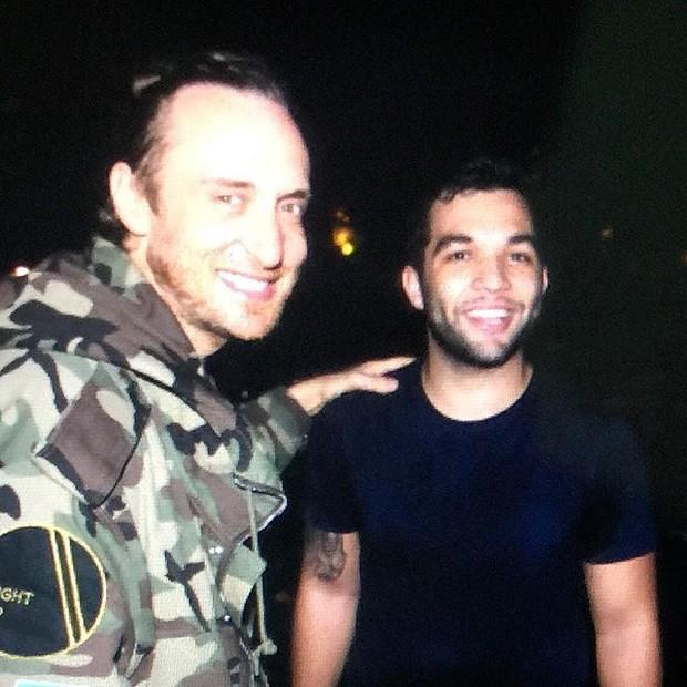 David Guetta e Jonathan Costa em casa de shows no Rio (Foto: Instagram/ Reprodução)